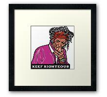 Keef Framed Print