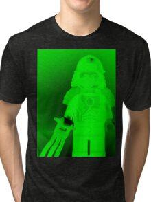 TMNT Teenage Mutant Ninja Turtles Master Shredder Custom Minifigure Customize My Minifig Tri-blend T-Shirt