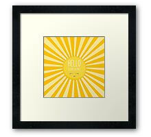 KIDS KAWAII - HAPPY SMILING SUN - HELLO SUNSHINE Framed Print