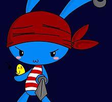 Pirate Bunny by cafebunny