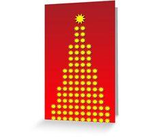 Christmas Tree Stars Greeting Card