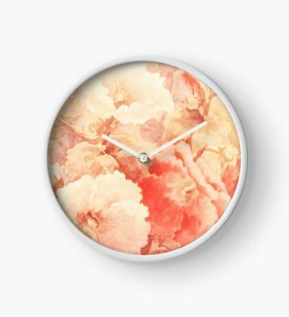 Vintage Watercolour Floral Clock