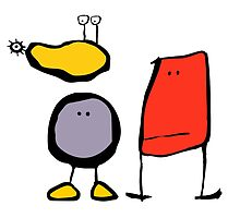 Blobs and Space Flea by WoolleyWorld