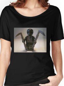 Custom Black Shadow Assassin Minifig Women's Relaxed Fit T-Shirt