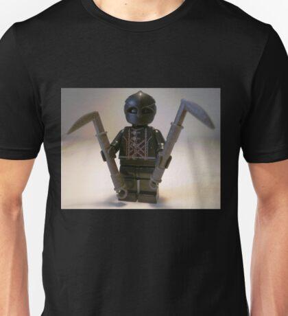 Custom Black Shadow Assassin Minifig Unisex T-Shirt