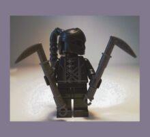 Custom Black Shadow Assassin Minifigure Kids Clothes