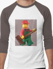 City 'Bert the Street Cleaner' Minifigure Men's Baseball ¾ T-Shirt