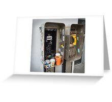Private Public Telephone Greeting Card
