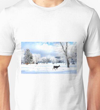 Deer in the Hoar Frost Unisex T-Shirt