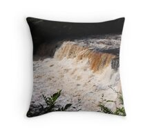 Aysgarth Middle Falls - Yorkshire Dales Throw Pillow