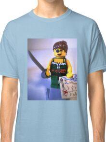 Custom Pirate Girl Minifigure with Treasure Map Classic T-Shirt