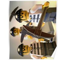 Convict Prisoner City Minifigure with Dynamite Sticks Poster