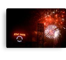 Fireworks - AT&T Park Canvas Print