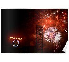 Fireworks - AT&T Park Poster