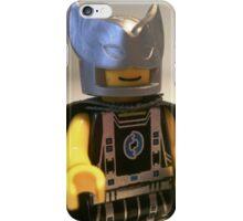 Captain Vortex in Black & Silver Costume and Cape iPhone Case/Skin