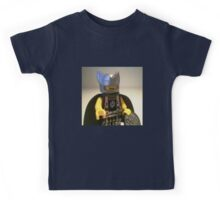 Captain Vortex in Black & Silver Costume and Cape Kids Tee