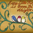 Three Little Birds by Roz Abellera Art
