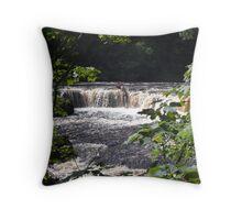 Aysgarth Upper Falls I Throw Pillow