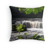 Aysgarth Upper Falls III Throw Pillow