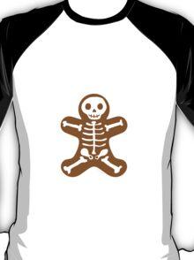 Skeleton Gingerbread Man  T-Shirt