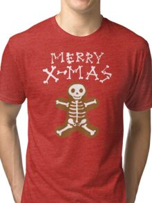 Skeleton Gingerbread Man  Tri-blend T-Shirt