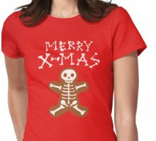 Skeleton Gingerbread Man  Womens Fitted T-Shirt