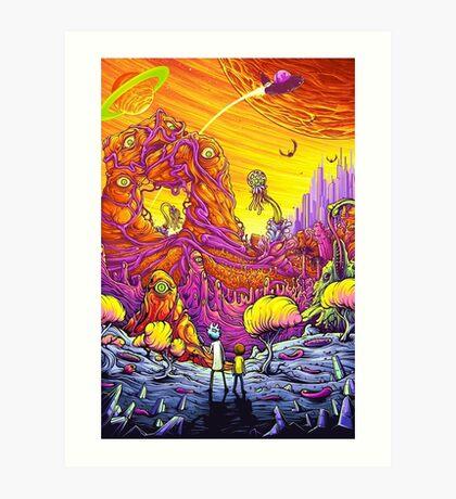 Rick and Mortys' World   Art Print