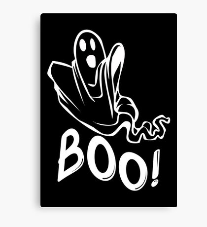 Boo Ghost Halloween Canvas Print