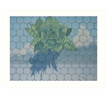 Plant On Ceramic Tile Art Print