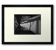 Flipped Bridge Framed Print