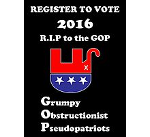 Register to Vote for 2016 -- Anti-GOP Photographic Print