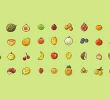 Pixel Fruits Set 1 by banafria