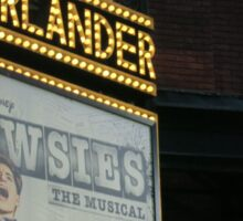 Newsies Marquee  Sticker
