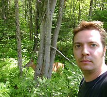 Me and a deer by Robert Lake