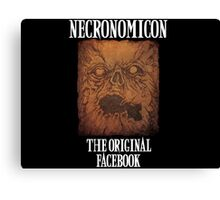Necronomicon: The Original Facebook Canvas Print