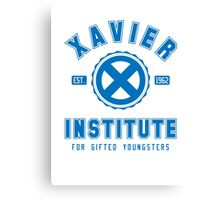 Xavier Institute (Blue) Canvas Print