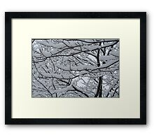 Heavy under the weight Framed Print