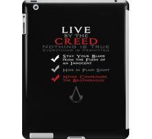 Live by the Creed iPad Case/Skin