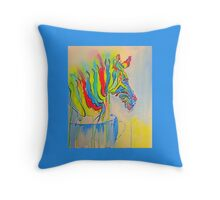Zebra in a Tea Cup Throw Pillow
