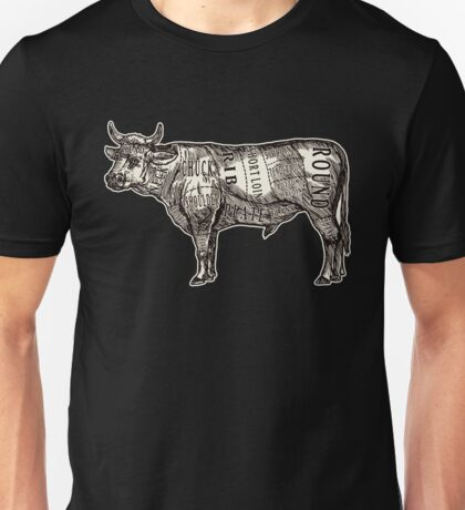 Butcher Chart: Cow Edition Unisex T-Shirt