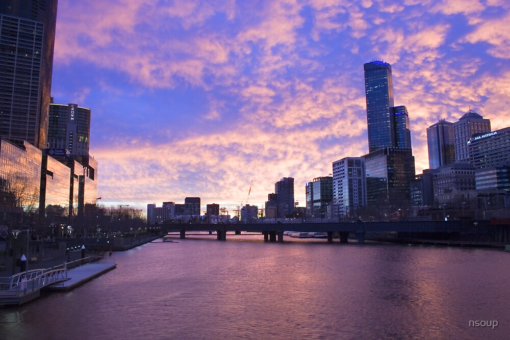 Melbourne sunset by nsoup