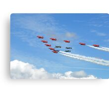 spitfires and red arrows Canvas Print