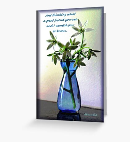 Just Thinking ~ My Best Friend Greeting Card
