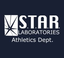 Star Labs Athletic Dept. - White Text by pieandcoffee