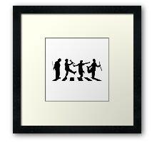 smart crossing (charlie chaplin) Framed Print
