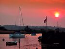 The British Flag at Sunset by Charmiene Maxwell-Batten