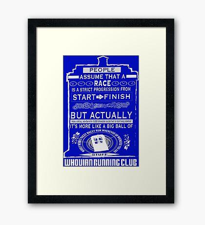 Wibbly Wobbly Racey Wacey Stuff Framed Print