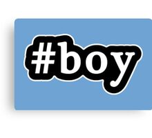 Boy - Hashtag - Black & White Canvas Print