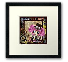Cute steampunk goth girl gifts Cosplay Framed Print