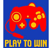 PLAY TO WIN Photographic Print